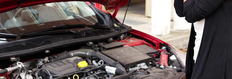 moteur de voiture défectueux
